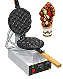 WantJoin Bubble Waffle Maker Commercial Electric Non stick Hong Kong Egg Waffler Iron with Timer Temperature Adjustable 110V