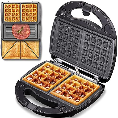 Yabano Detachable Non-stick Coating Sandwich Maker, Waffle Maker