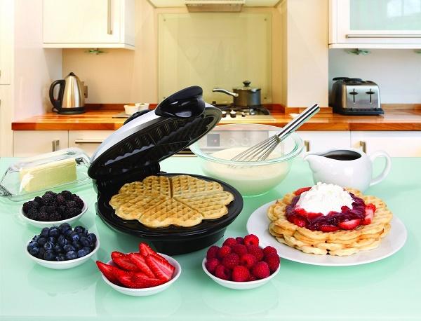 Euro Cuisine Eco Friendly Heart Shaped Thin Waffle Maker