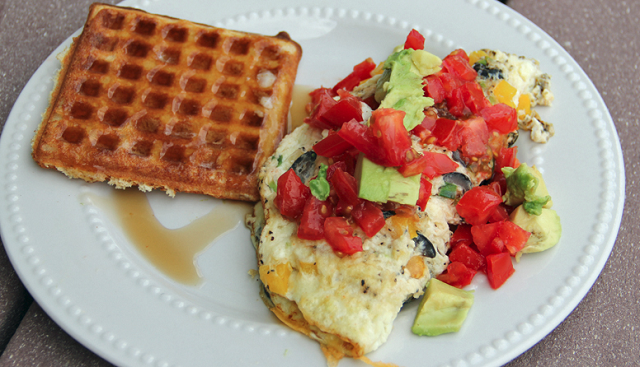 waffles-omlet