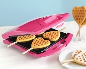Babycakes Waffle Maker for Heart Shapped Waffles on Sticks