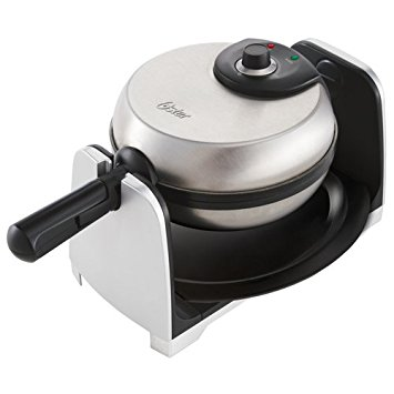 Oster Thick Belgian Flip Waffle Maker, Brushed Stainless Steel