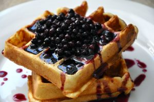 blueberry syrup waffle topping