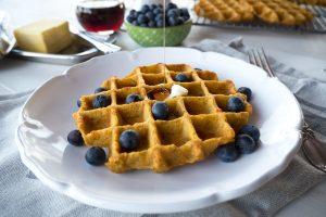 flourless plantain waffles