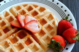 how to make waffles without eggs