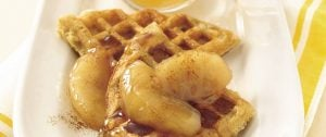 maple and cinnamon apple waffle topping