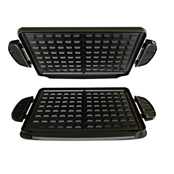 George Foreman GFP84WP Evolve Grill 84-Square Inch Waffle Plate Accessory Set